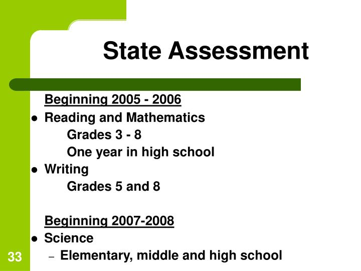 State Assessment