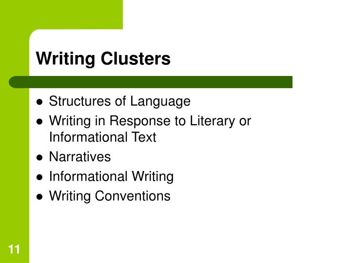 Writing Clusters