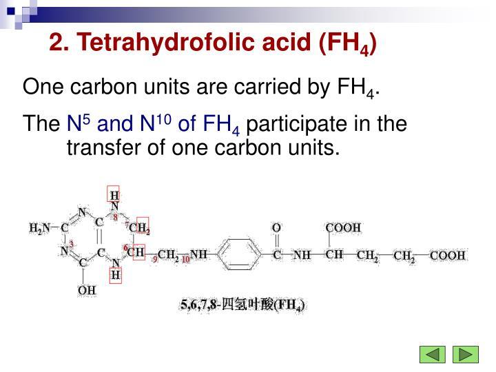 2. Tetrahydrofolic acid (FH