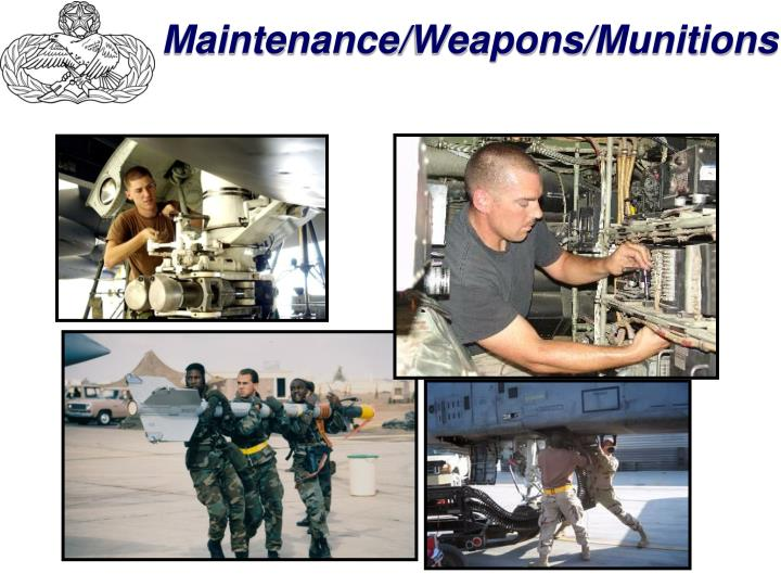 Maintenance/Weapons/Munitions