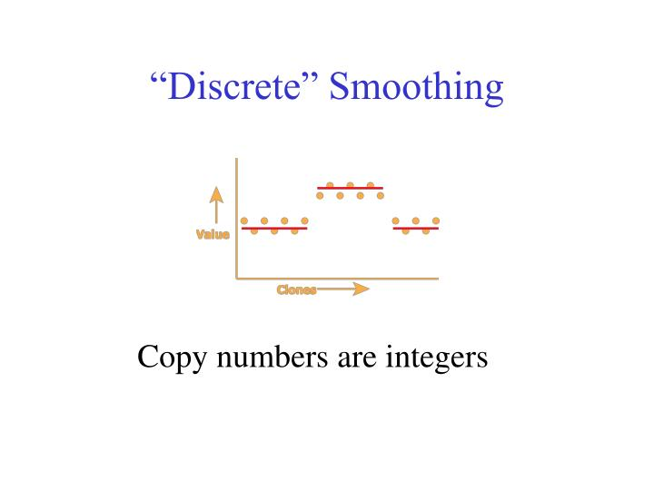 """Discrete"" Smoothing"