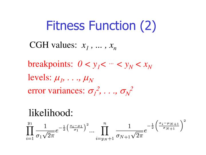 Fitness Function (2)