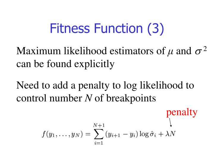 Fitness Function (3)