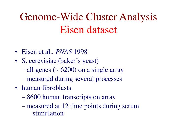 Genome-Wide Cluster Analysis
