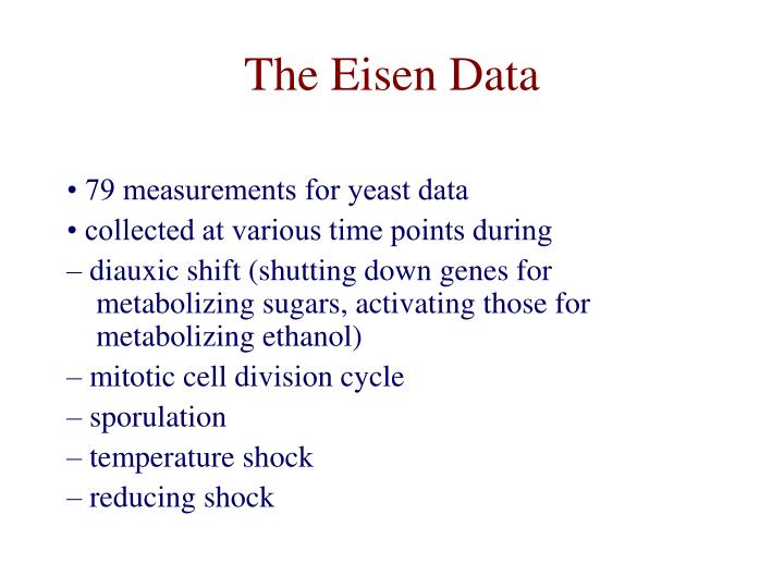 The Eisen Data