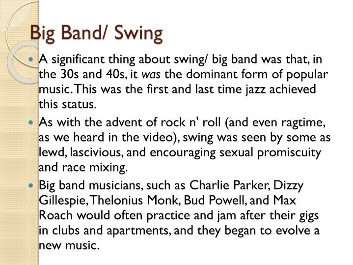 Big Band/ Swing
