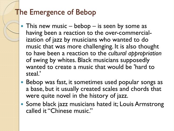 The Emergence of Bebop