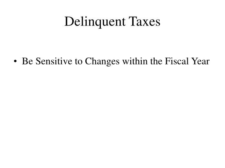 Delinquent Taxes
