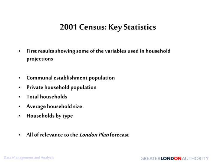 2001 Census: Key Statistics