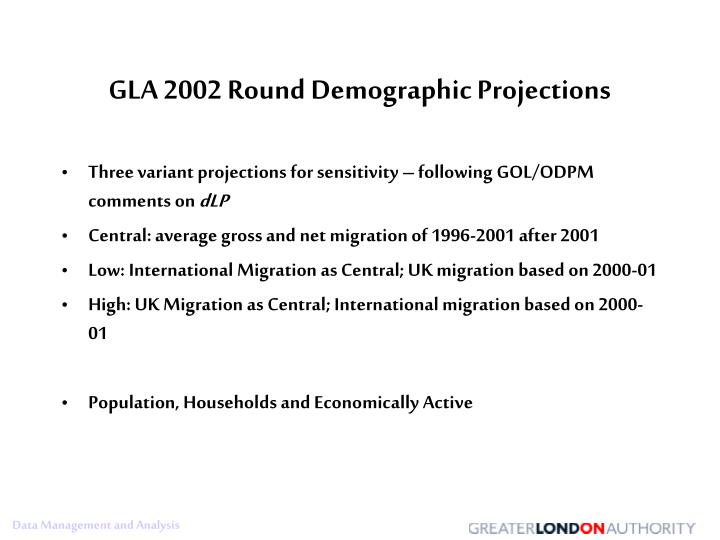 GLA 2002 Round Demographic Projections