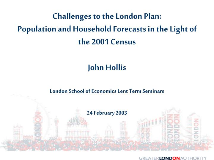 Challenges to the London Plan: