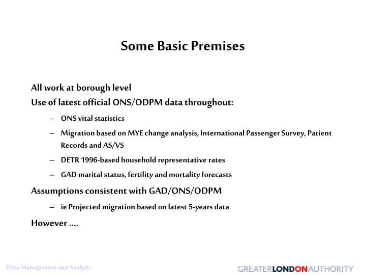 Some Basic Premises