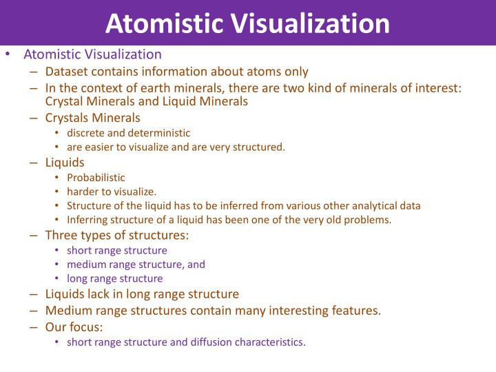 Atomistic Visualization