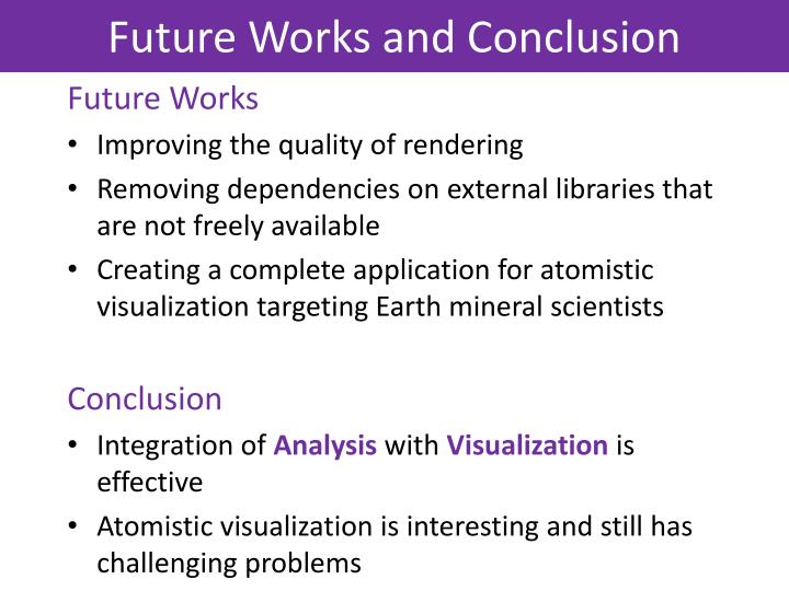 Future Works and Conclusion