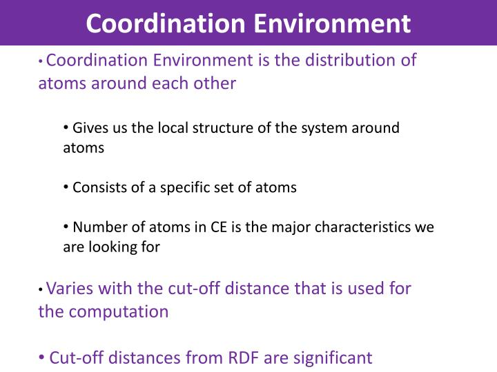 Coordination Environment