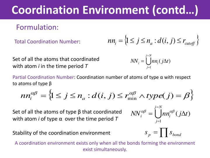 Coordination Environment (