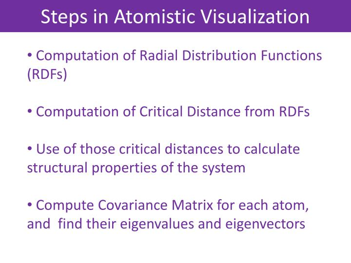 Steps in Atomistic Visualization