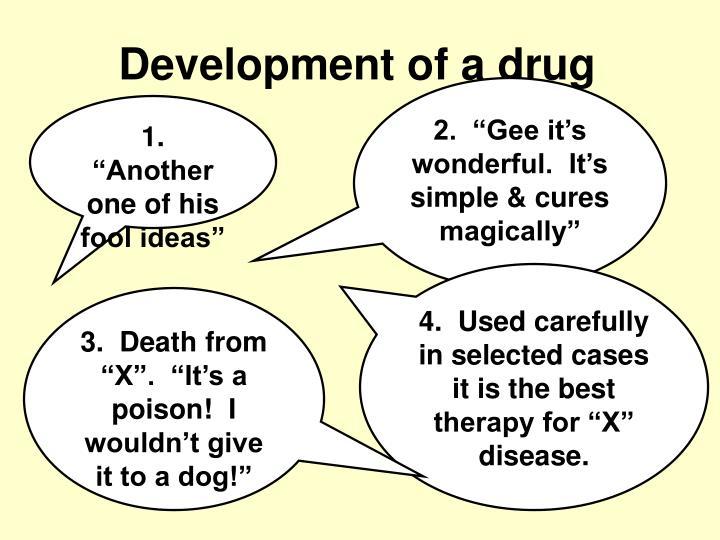 Development of a drug