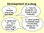 development of a drug