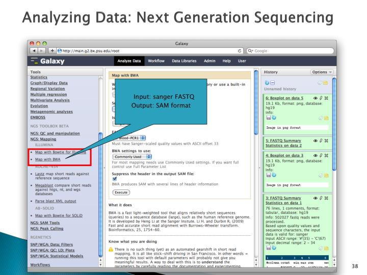 Analyzing Data: Next Generation Sequencing