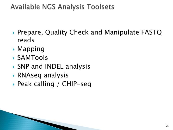 Available NGS Analysis Toolsets