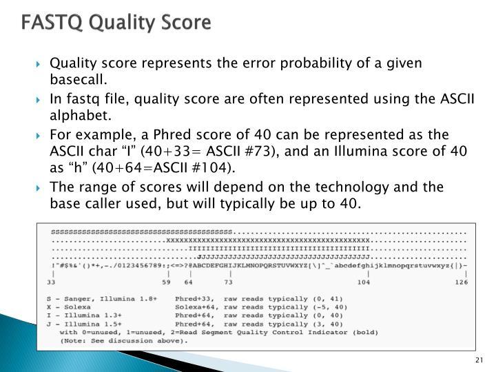 FASTQ Quality Score