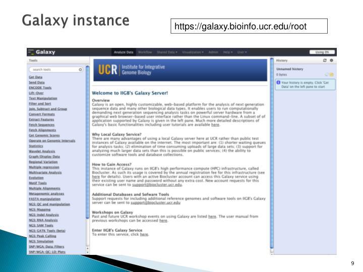Galaxy instance