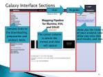 galaxy interface sections