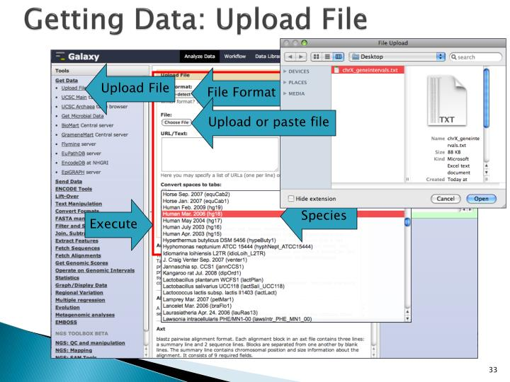 Getting Data: Upload File