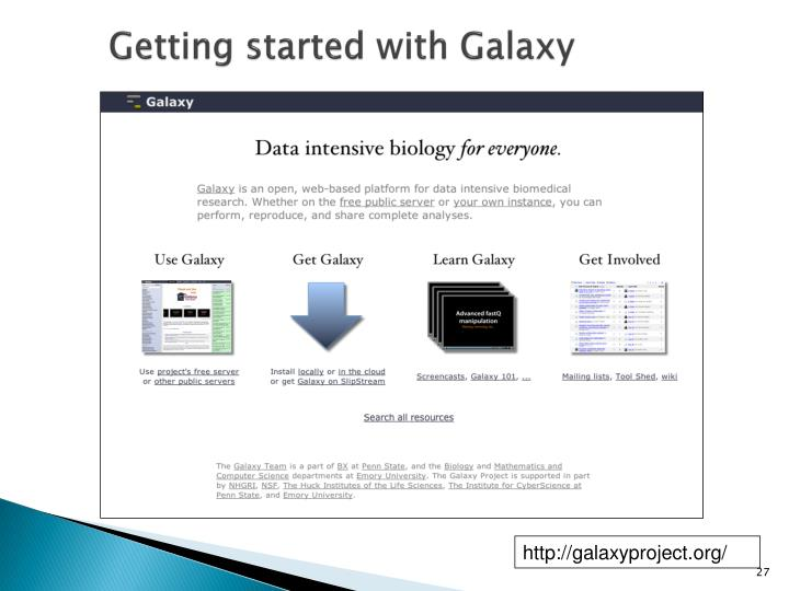 Getting started with Galaxy