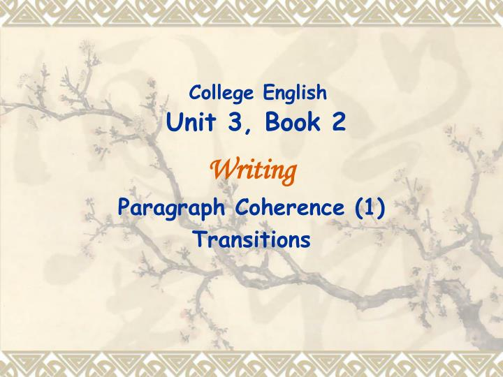 college english unit 3 book 2
