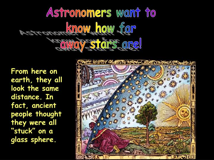 Astronomers want to