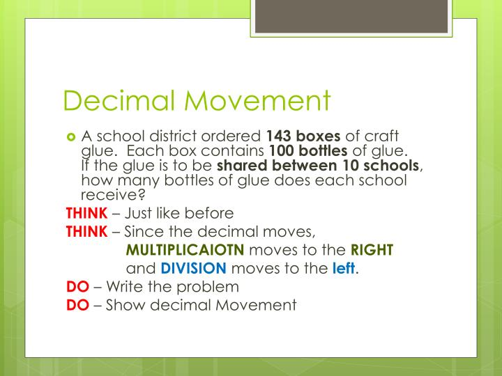 Decimal Movement