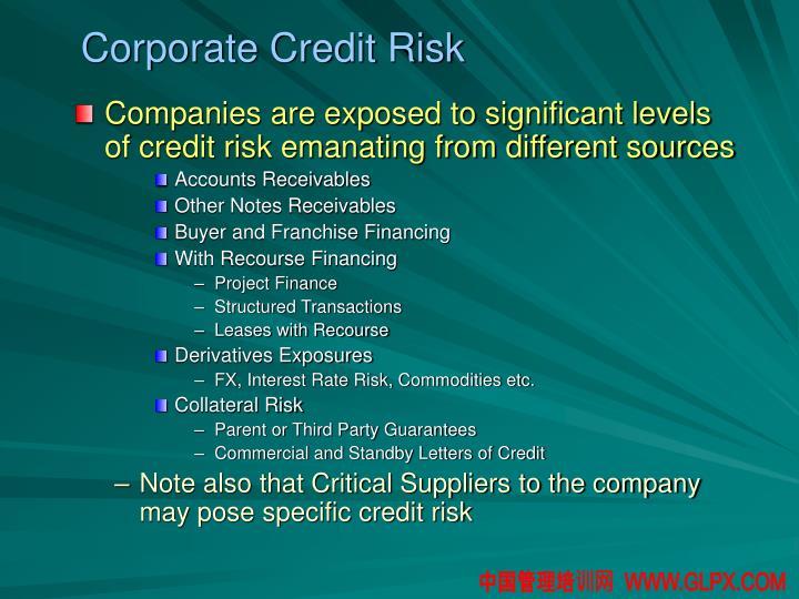 Corporate Credit Risk