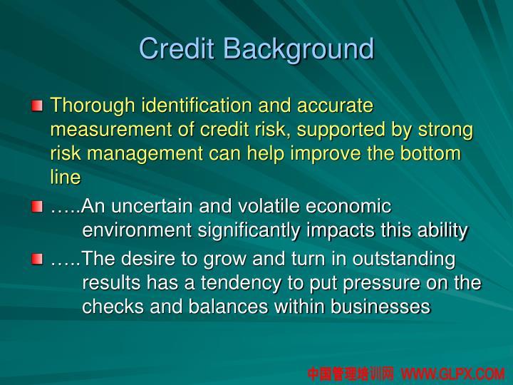 Credit Background