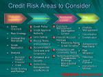 credit risk areas to consider