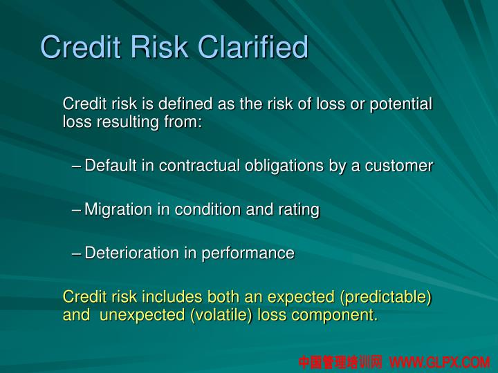 Credit Risk Clarified