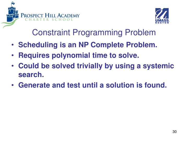 Constraint Programming Problem