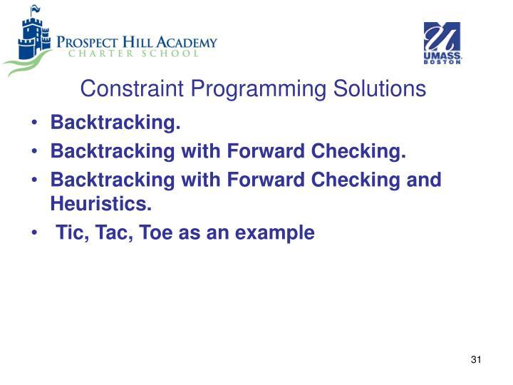 Constraint Programming Solutions