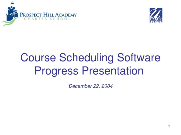 Course Scheduling Software