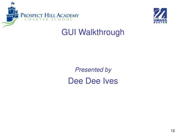 GUI Walkthrough