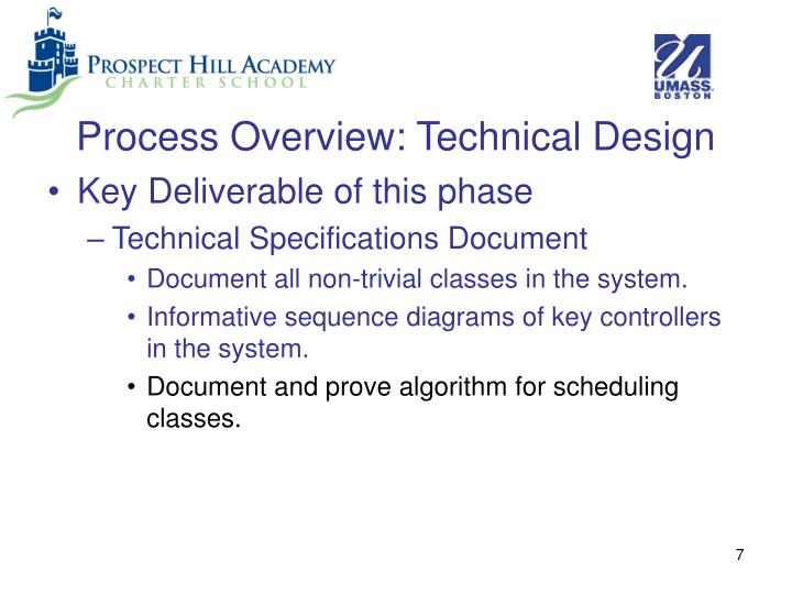 Process Overview: Technical Design