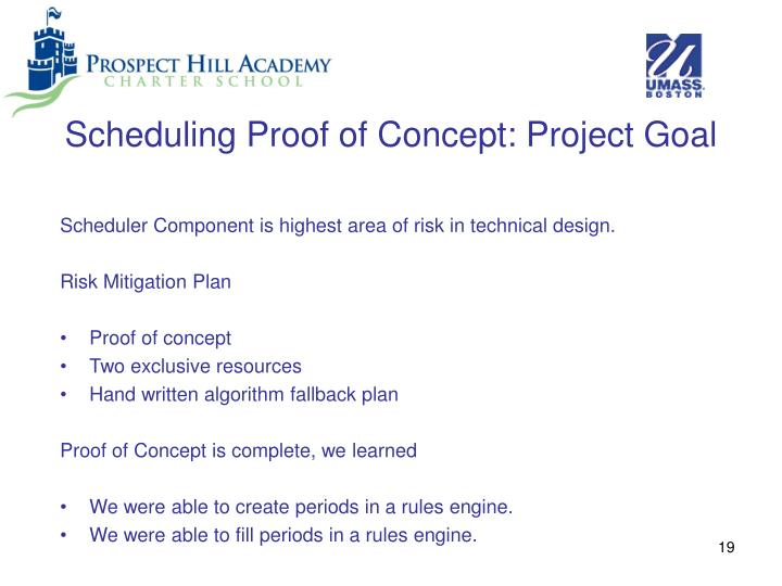 Scheduling Proof of Concept: Project Goal