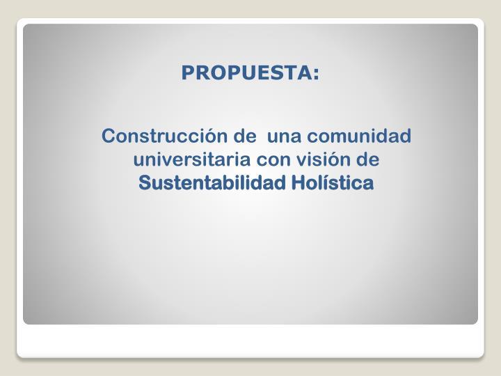 PROPUESTA:
