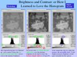 brightness and contrast or how i learned to love the histogram