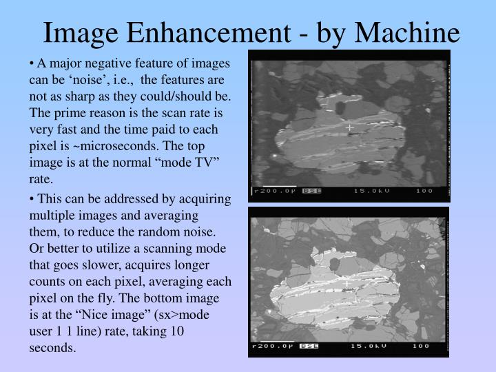 Image Enhancement - by Machine