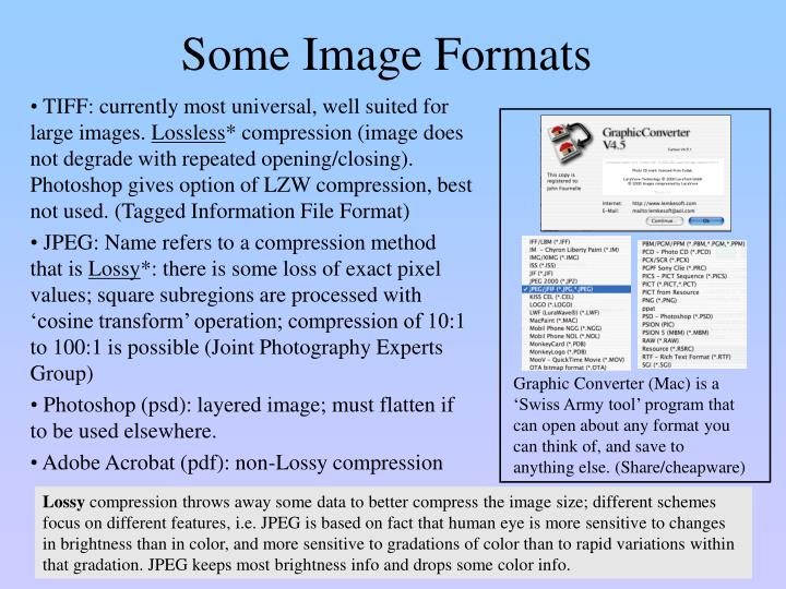 Some Image Formats