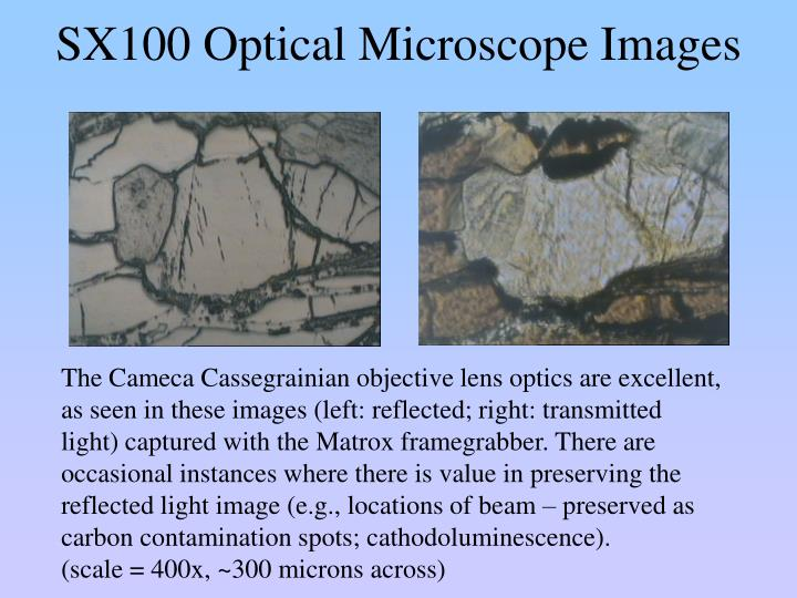 SX100 Optical Microscope Images