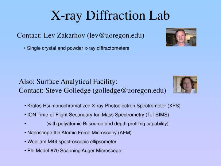 X-ray Diffraction Lab