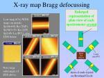 x ray map bragg defocussing